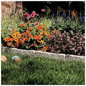 Suncast, Resin, Faux, Stone, Border, Edging, Lawn, Landscape, Garden, Flower, Bed, Decor