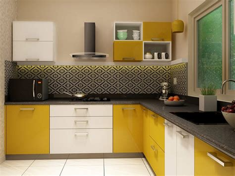 Small Kitchen Design Ideas Photo Gallery - kelly l shaped modular kitchen designs india homelane