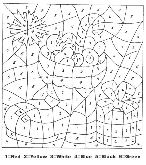 christmas color  numbers  coloring pages  kids