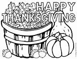 Thanksgiving Happy Coloring sketch template