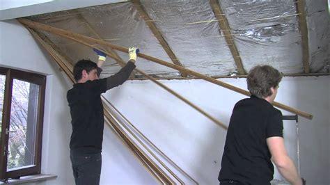 isolation mince toiture par l intérieur isolation de toiture par l int 233 rieur