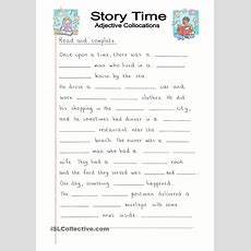 Read And Complete  Story Time With Adjectives  English Language, Esl, Efl, Learn English