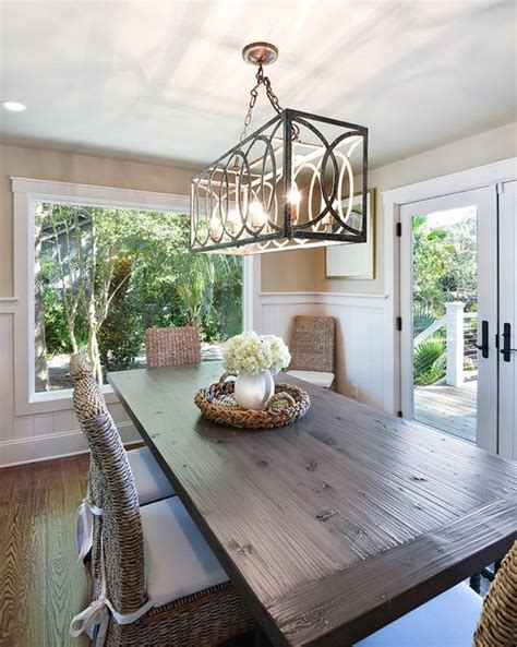 hanging a dining room chandelier at the height