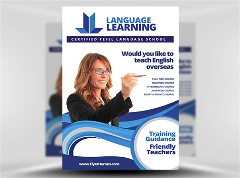 English Teaching Templates by Teaching Flyer Template Flyerheroes