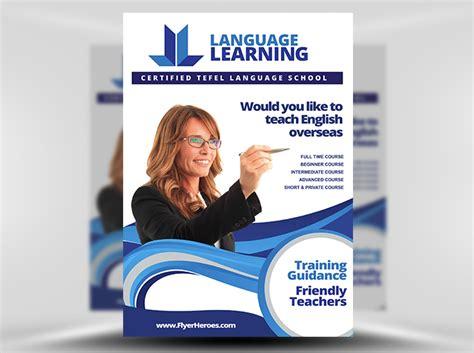 english teaching templates teaching flyer template flyerheroes