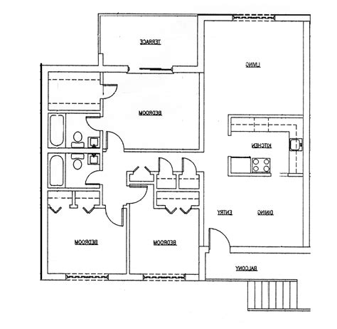 one two bedroom house plans 3 bedroom 2 bath house plans 1 home design 2017