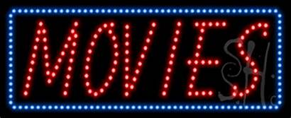 Sign Animated Led Movies Neon Signs Entertainment