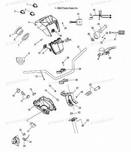 Polaris Atv 2005 Oem Parts Diagram For Handlebar