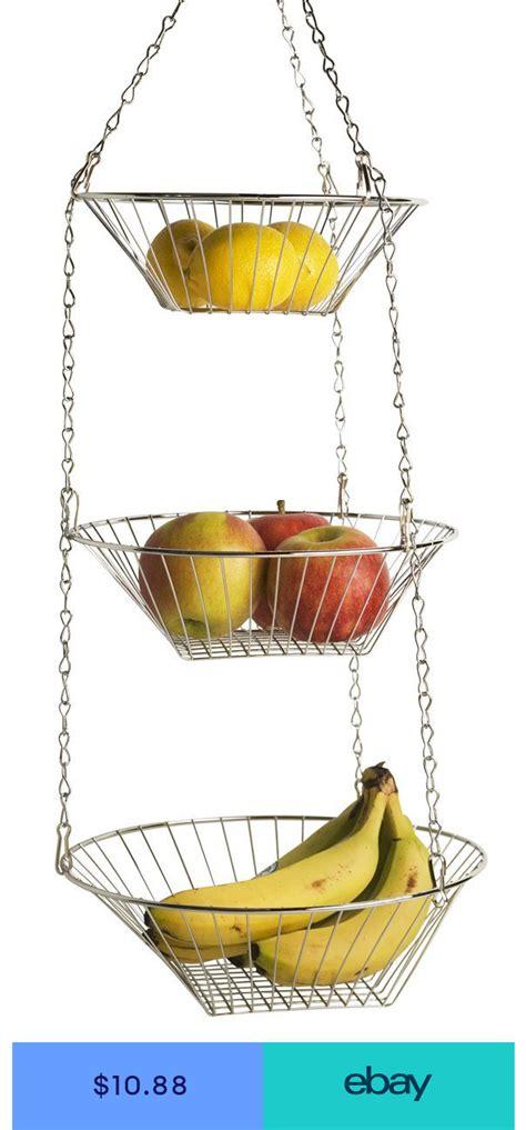 3 tier wire hanging basket fruit vegetable organizer
