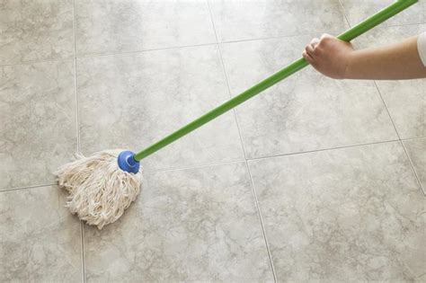 how to remove from tile floor after using mop glo