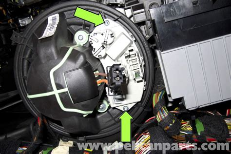 bmw  blower motor replacement    pelican parts diy maintenance article