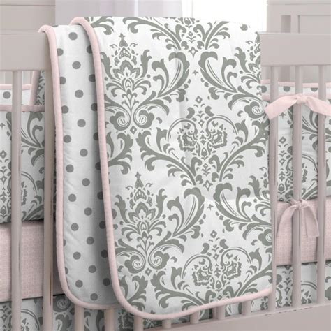 26627 pink and gray baby bedding pink and gray traditions 3 crib bedding set