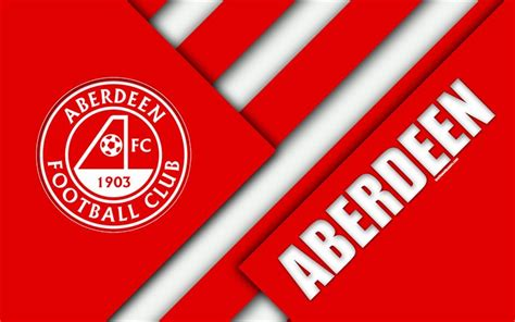 Download wallpapers Aberdeen FC, 4k, material design ...
