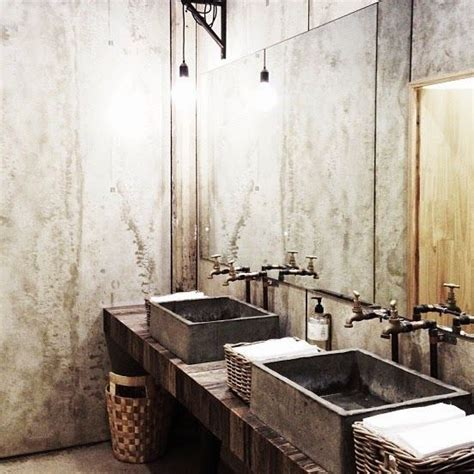 ideas  industrial bathroom  pinterest