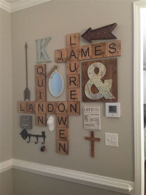 Select from our wide range words once they are printed have a life of their own, such is the power of words. Scrabble Letters Wall Decor | Letter wall decor, Farmhouse wall decor, Scrabble wall