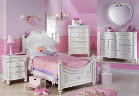Disney Princess Bedroom Furniture by Disney Princess White 4 Pc Poster Bedroom