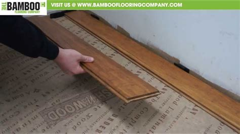 install uniclic bamboo flooring youtube