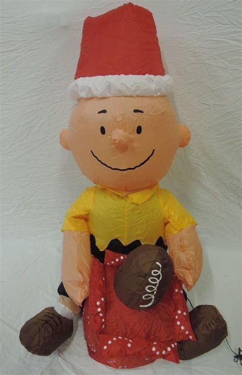 image gemmy inflatable christmas football charlie brown