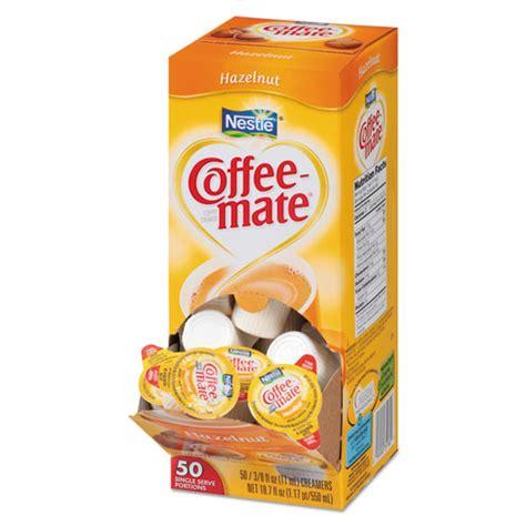** not a source of lactose. BettyMills: Nestle Coffee-mate® Hazelnut Liquid Creamer Singles - Nestle NES35180BX