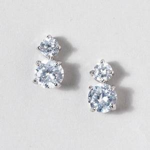 Stacked CZ Stud Earrings | Claires | formal | Pinterest