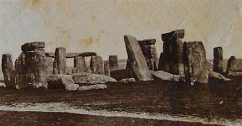 early photo  stonehenge  restoration