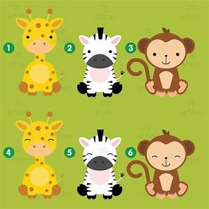 Safari Baby Animals Clipart / Jungle Animals Clipart / Zoo ...