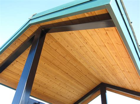 3x6 tongue and groove roof decking structures sentinel mountain kiosk shelters