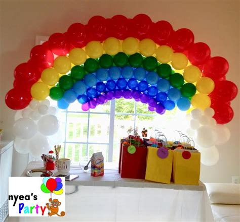 rainbow balloon arch nyeas party store
