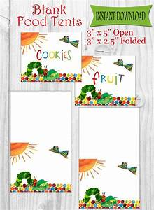 The Very Hungry Caterpillar Food Tents  Place Cards  Labels - Instant Download
