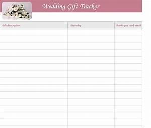 wedding gift list template free wedding gift list template With wedding shower gift list template