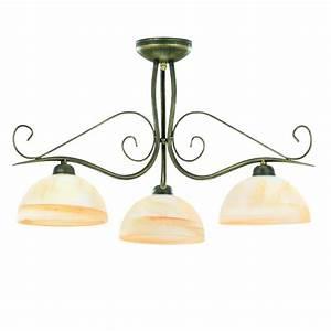 Deckenleuchte 3 Flammig E27 : deckenleuchte fiona 3 flammig 3x 60 watt 3 flammig wohnlicht ~ Orissabook.com Haus und Dekorationen