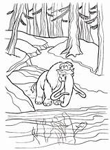 River Coloring Nature sketch template