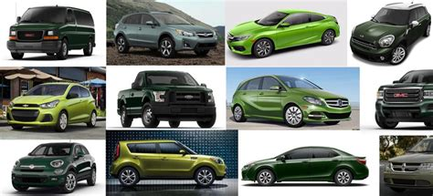 car colors which 2016 are offered in green the news wheel