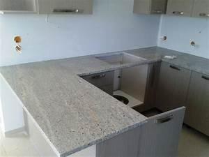 Awesome White And Gray Granite Kitchen — Saura V Dutt Stones