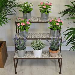 stylish ditsy ceramic etagere three tier plant stand by garden selections notonthehighstreet