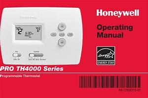 Honeywell Pro Th4000 Users Manual 69 1760efs 01 Series