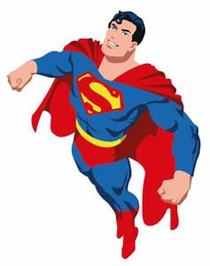 Superman Cartoon Vector Logo