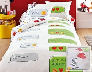 Lit Pour Ado : parure de lit ado parure de lit fille 200x200 maman blabla ~ Melissatoandfro.com Idées de Décoration
