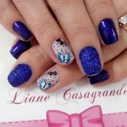 Cool royal blue nail art design ideas for trendy girls