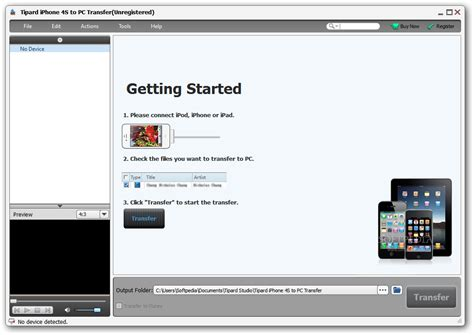 iphone to pc transfer tipard iphone 4s to pc transfer