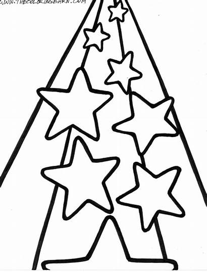 Coloring Star Pages Shooting Drawing Printable Preschoolers