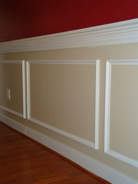Panel Molding Wainscoting by Crown Molding Ideas See Chair Rail Molding Along The