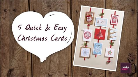 quick  easy christmas cards youtube