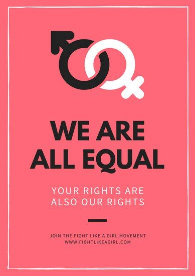 customize  gender equality poster templates  canva
