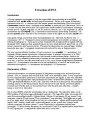Dna Extraction Resume by Dna Extraction Experiment Lab Report I Want To Write Papers For Money