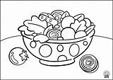 Coloring Pages Navigation Salad2 sketch template