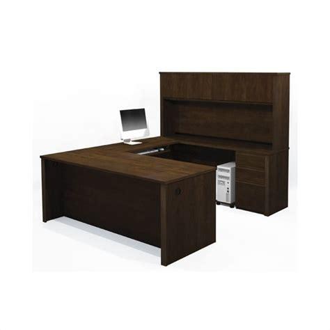 bestar u shaped desk with hutch bestar prestige u shape desk office set with hutch in