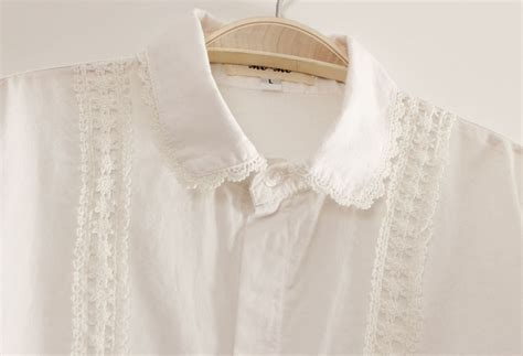 white pan collar blouse shirt picture more detailed picture about