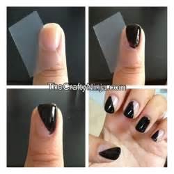 Amazing diy nail art designs using scotch tape