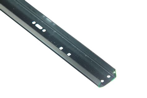 garage door track parts 2 quot vertical track for 8 high doors 075 left side